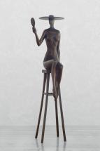 Dáma se zrcadle, bronz 1